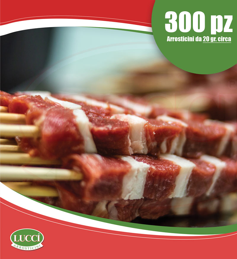 Arrosticini di Filetto di Pecora da 20g. - 300pz